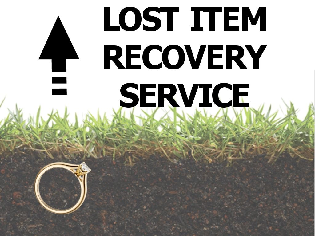 Lost Gold ring being unearthed - showing how Our Lost Item Recovery service could help you find your lost items